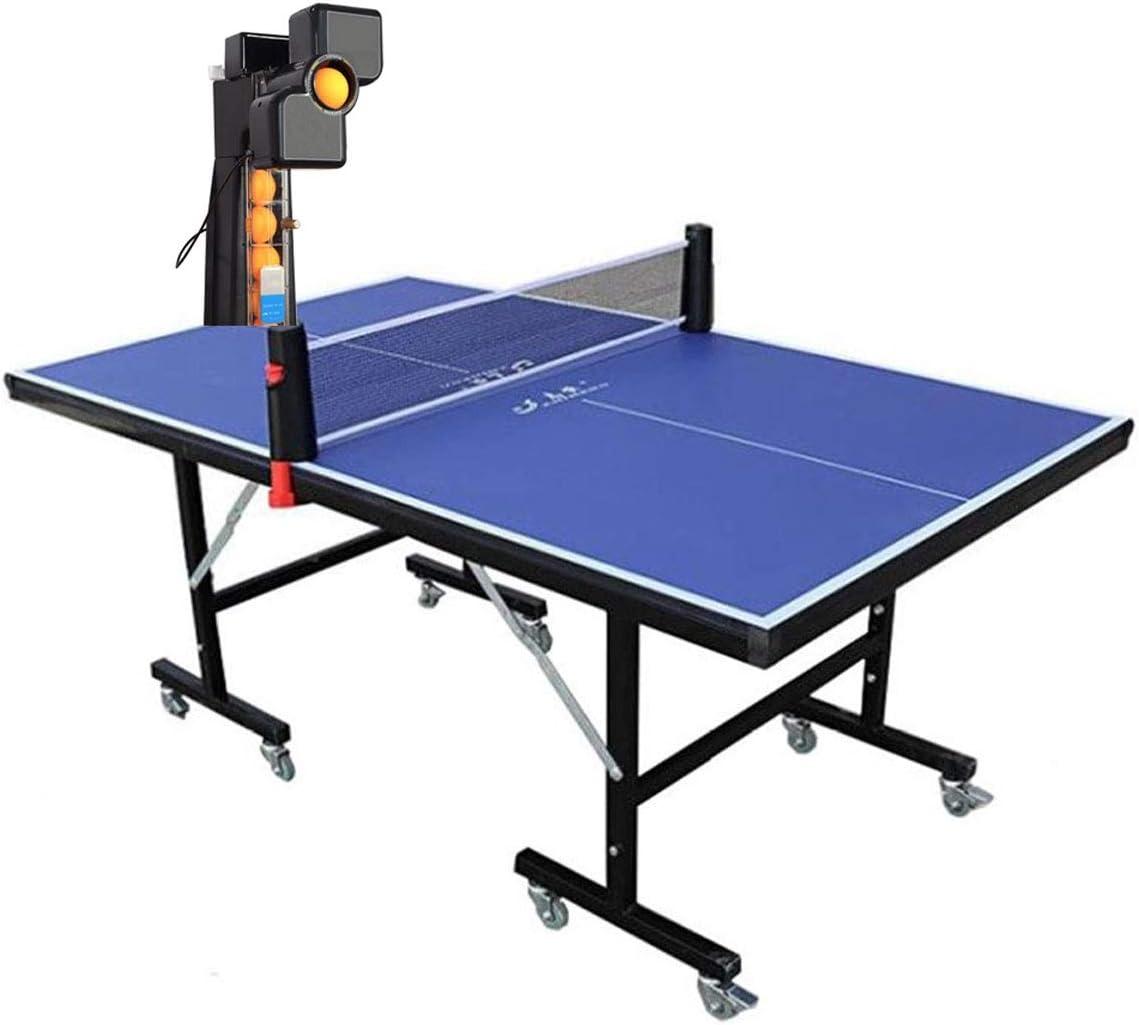 Máquina Ping Pong De Mesa Robot con Juego De Mesas De Ping Pong, 36 Bolas De Giro Diferentes Máquina Automática De Servicio De Bolas De Ping Pong con Red Y Bolas