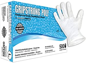 Sempermed GripStrong Poly Foodservice Grade Polyethylene Gloves, Large (500/Box)