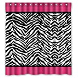 Pink Zebra Print Shower Curtain Afagahahs Pink Zebra Print & Stripes Lines Design Bathroom Shower Curtain Shower Rings Included Polyester Best Visual Enjoyment for You 72 x 72 in
