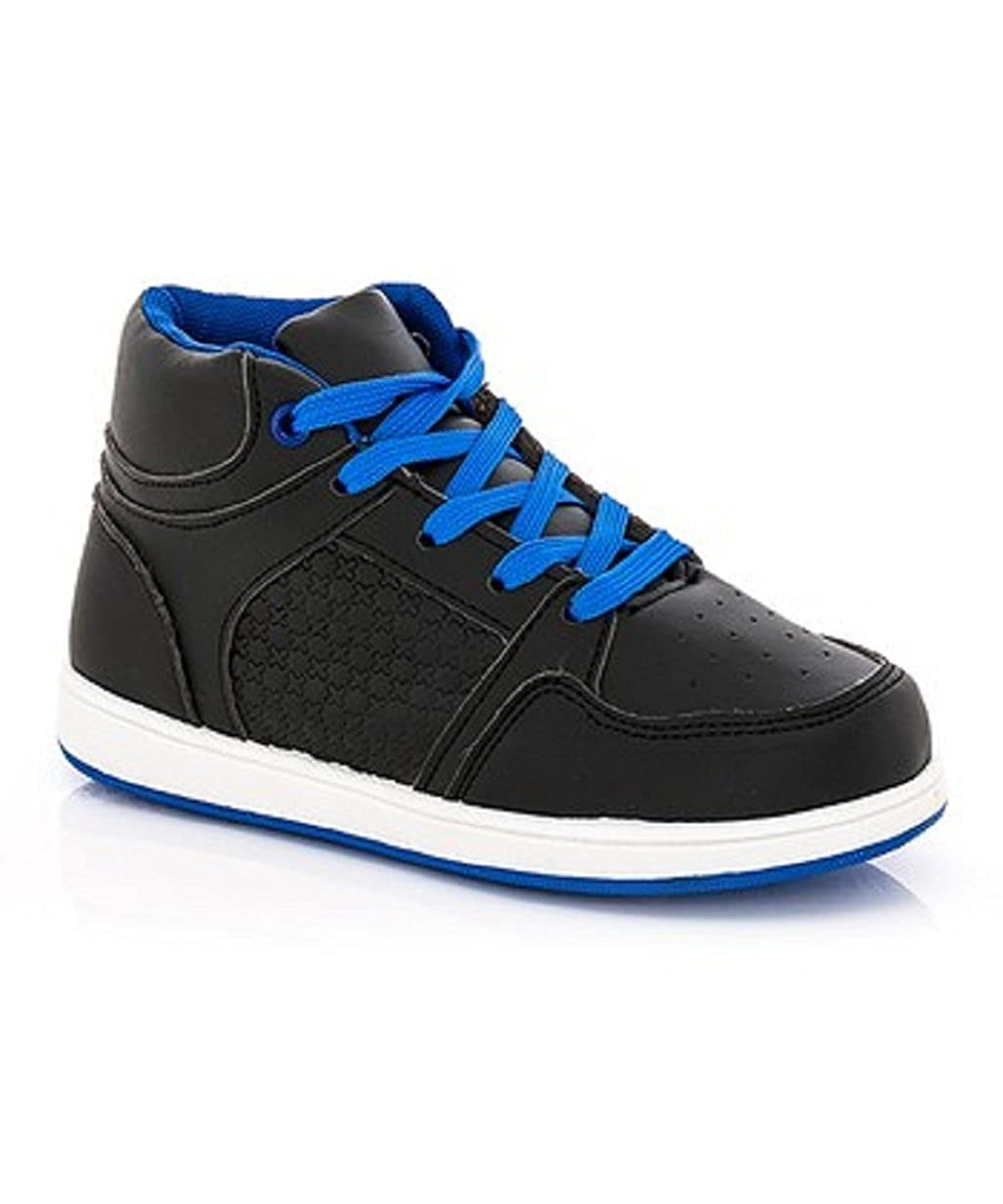 C J Baby Boys Black and Blue hi-top Sneaker Size