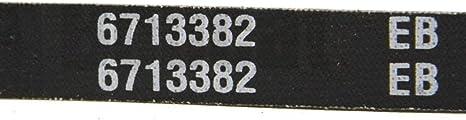 Mover Parts Fan Drive Belt 6713382 for Bobcat 863 864 A300 S220 S250 S300 T200 T300
