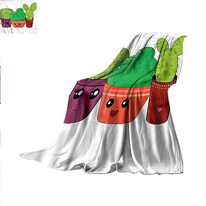 Amazon Kawaii Throw Blanket Doodle Style House Plant Velvet Magnificent Kawaii Throw Blanket