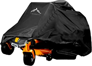 Himal Outdoors Zero-Turn Mower Cover, Heavy Duty 600D Polyester Oxford, UV Protection Universal Fit with Drawstring & Cover Storage Bag, Tractor Cover Up to 60