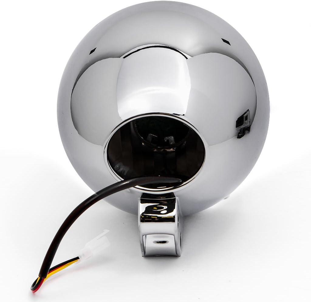 Krator 7 Chrome LED Headlight Cruiser Daytime Running and Low Beam for Honda VT Shadow Spirit Velorex Deluxe 600 750 1100