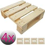 4x Einweg-Palette 40 x 40 cm perfekt für eigene Palettenmöbel Gartenmöbel Europalette Palettensitz ideal für Stuhl Hocker Kommode Beistelltisch
