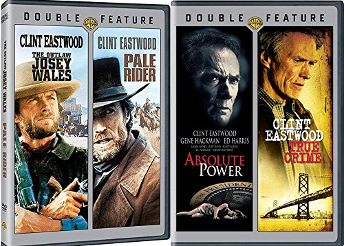 Clint Eastwood Western Icon Pale Rider + Outlaw Josey Wales & Absolute Power / True Crime 4 Movie DVD Film Set