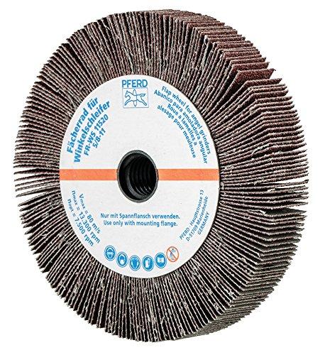 PFERD 45753 Non-Woven Abrasive Flap Wheel for Angle Grinders, Aluminum Oxide, 4-1/2 Diameter, 5/8-11 Thread, 3/4 Face Width, 60 Grit, 13300 rpm