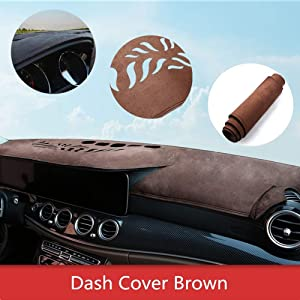 ytbmhhuoupx Dash Cover for Honda Odyssey 2015-2018 Original Car Custom Dashboard Mat Anti-Glare Dash Carpet Leather Brown