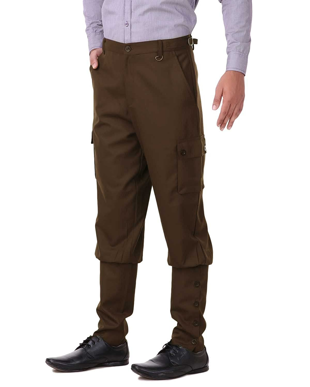 Men's Steampink Pants & Trousers Steampunk Victorian Cosplay Costume Mens Airship Pants Trousers ThePirateDressing $59.09 AT vintagedancer.com