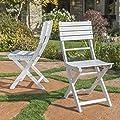 GDF Studio Vicaro Outdoor Wood Patio Furniture Folding Dining Chairs