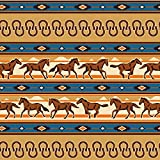 Graphics and More Southwest Running Horses and Horseshoes Premium Roll Gift Wrap Wrapping Paper
