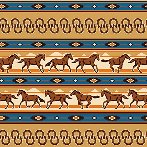 Graphics and More Southwest Running Horses and Horseshoes Premium Roll Gift Wrap Wrapping Paper by Graphics and More