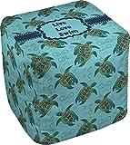 RNK Shops Sea Turtles Cube Pouf Ottoman - 13'' (Personalized)
