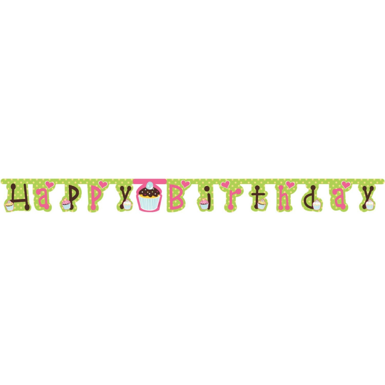 Club Pack of 12 Large Sweet Treats Jointed ''Happy Birthday'' Party Decoration Banner by Party Central
