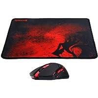 Kit Gamer com Mousepad P016 e Mouse Centrophorus M601, Redragon, Mouses, Preto