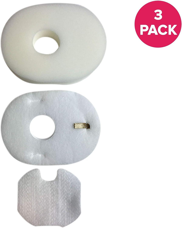 Crucial Vacuum Replacement Foam Vacuum Filter- Compatible with Shark Foam, Felt Filters - Part # XFFV300 & 1080FTV320 - Models HV300 Foam & Felt Filters Fit HV310 Rocket - Washable, Reusable (3 Pack)