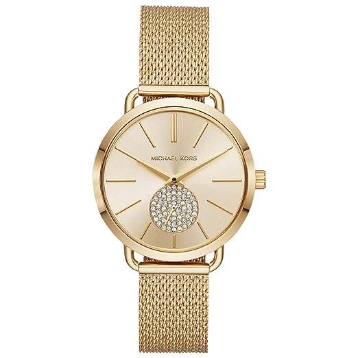 Michael Kors Reloj Analogico para Mujer de Cuarzo con Correa en Acero Inoxidable MK3844: Amazon.es: Relojes