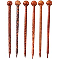 Baoblaze 6 Pieces 5.11'' Retro Hair Sticks Printed Wood Hairpin Chopsticks Wooden Hairpin Needle Headdress Jewelry…