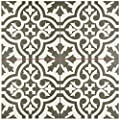"SomerTile FPEBRKC Stroud Ceramic Floor & Wall Tile, 17.625"" x 17.625"", Charcoal,,, Grey, White"
