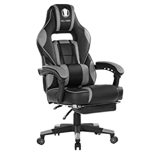 KILLABEE Reclining Memory Foam Racing Gaming Desk Office Chair