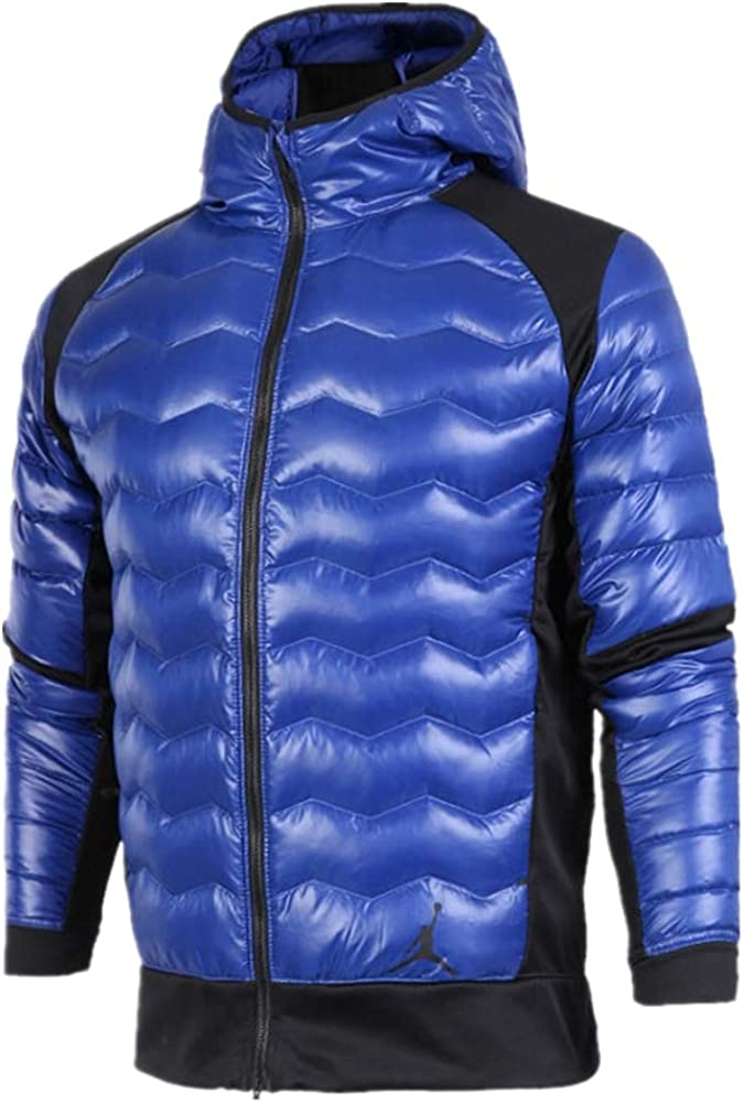 Nike M Jordan Performance Hybrid Down Jacket Mens Outerwear Jackets  807948-455 Size M Blue/Black Down & Down Alternative