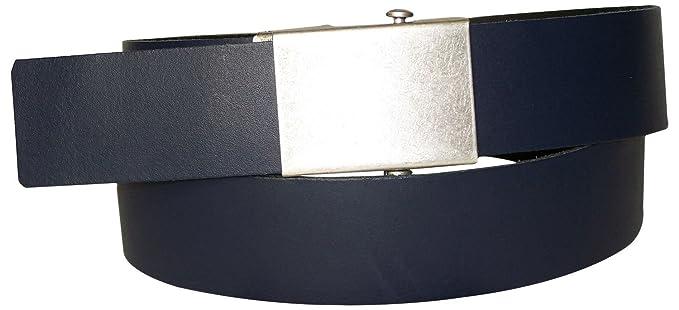 51b14c511a45 Fronhofer Ceinture pour homme à réglage continu, peut être raccourcie,  ceinture pour homme souple en cuir, sans nickel, boucle automatique 17900,  ...