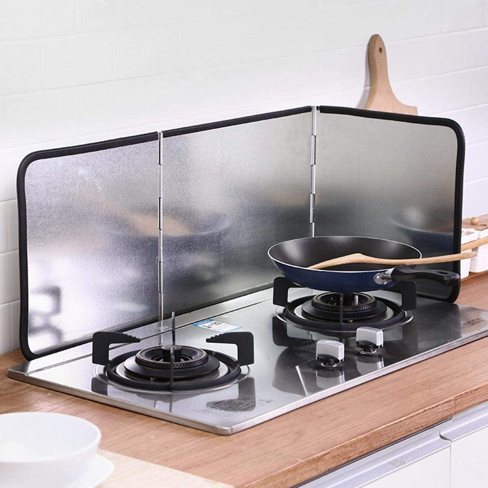 Gadgets utiles pour la Cuisine /Écran Anti-/éclaboussures pour la Graisse Home Splatter Guard for Cooking /écran Anti-/éclaboussures /à /Écran Pare-/éclaboussures /à 3 c/ôt/és pour la Cuisson