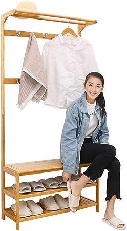 Size : 50cm Lrxq Accueil classique D/écoration Porte-manteau simple Chambre Bureau V/êtements de finition multifonctions Support cintre chaussures rack