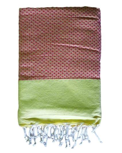Artymundo Casualwear Toalla fouta hammam Hermosa 100% algodón 200x100 cm diseño Nido de Abeja Colorido