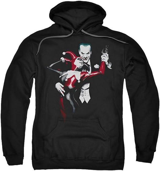 Batman DC Comics Harley Quinn and Joker Adult Pull-Over Hoodie