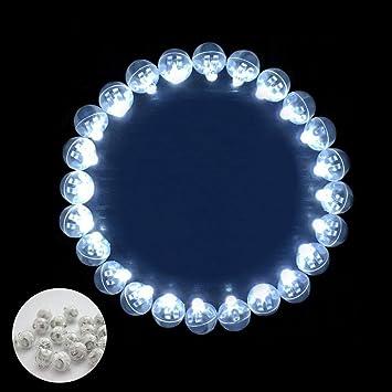 Pawaca - 100 bombillas LED para flash de bola, redondas, largas, tiempo de