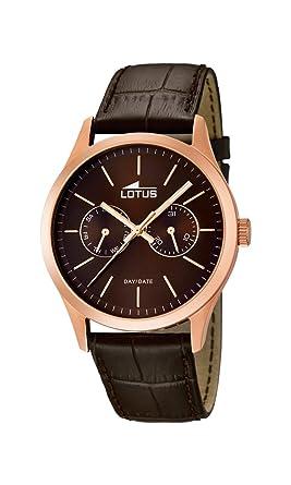 Lotus 15958/2 - Reloj de Pulsera Hombre, Cuero, Color Marrón: Amazon.es: Relojes