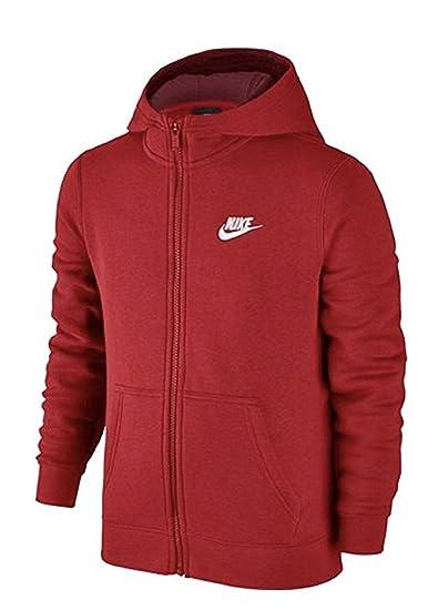 a15234616 Amazon.com: Nike Boy's NSW FZ Club Hoodie (Small, University Red ...