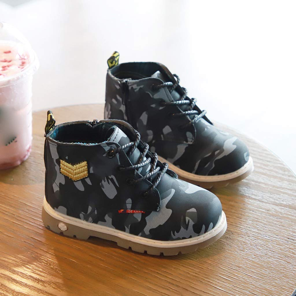 Baby Toddler Boys Girls Fashion Boots Autumn Winter Warm Shoes for 1-6 Years Old Child Camouflage Casual Shoes