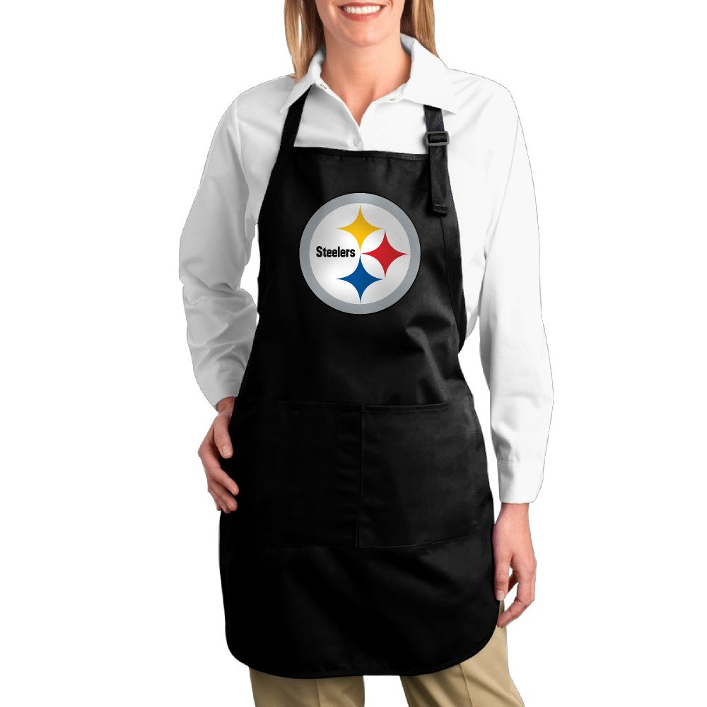 Hotel Chef Men Cotton Apron For Cooking Pittsburgh Steelers Twill Cotton Barbecue Comfortable Adults Bibs Cotton Apron Funny Gifts