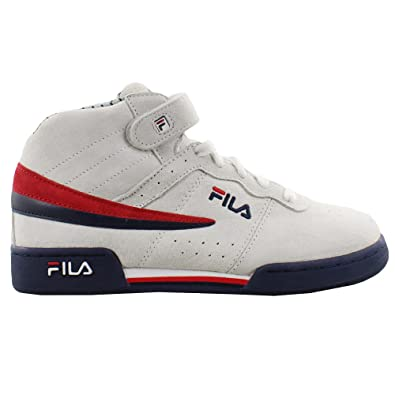 a5853a60e9f2 Amazon.com  Fila Kids F13 Mid Pinstripe - 7Y White (GS)  Shoes