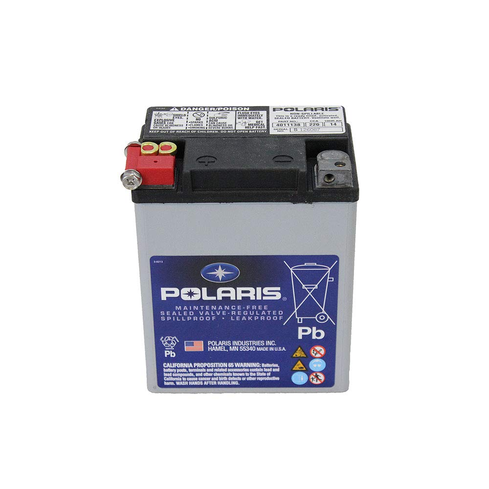 Genuine Polaris Part Number 4011138 - BATTERY-SEALED,14AH,ETX15 for Polaris ATV / Motorcycle / Snowmobile/ or Watercraft