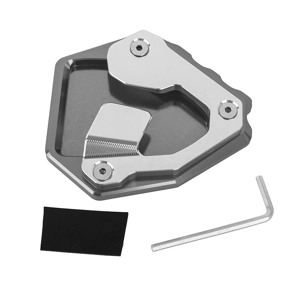 Motorcycle Aluminum Kickstand Side Stand Plate Pad Enlarge Extension for Honda CRF1000L Africa Twin ABS/DCT 2016-2018 (Titanium)