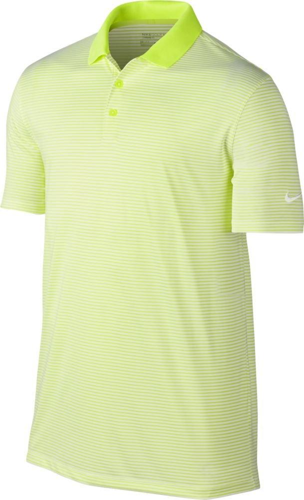 Nike Victory Mini Stripe Golf Polo 2018 Volt/White XXX-Large