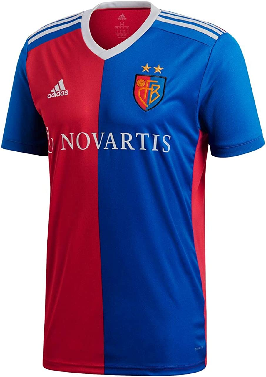 adidas 2018-2019 FC Basle Home Football Soccer T-Shirt Jersey