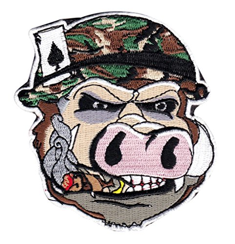 Wild Hog Ace Smoking Cigar Morale Hook Patch