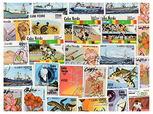 Cape Verde : 25 Different Stamps Collection Mixture Packet Stamps for Collectors