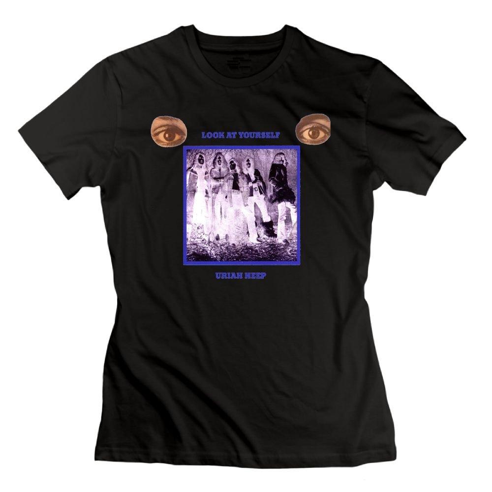 Loyd D Casual Uriah Heep Look At Yourself Tee Black Shirts
