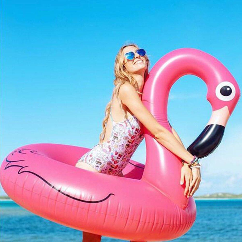 Flamenco inflable piscina balsa del flotador | Piscina inflable del mar o de la piscina Juguete de la piscina del flotador inflable verano al aire ...