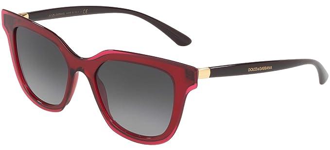 Dolce & Gabbana 0DG4362 Gafas de sol, Transparente Bordeaux ...