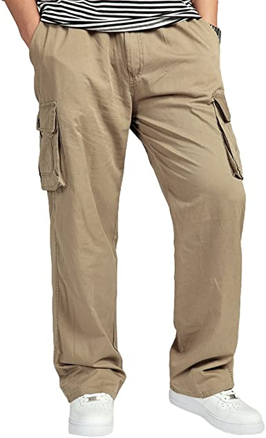 Lvguang Hombre Pantalones Cargo de Senderismo de Transpirable ...