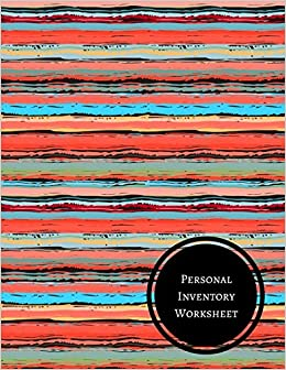 personal inventory worksheet journals for all 9781521350997