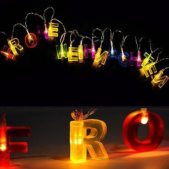 Schriftzug Frohe Weihnachten Beleuchtet.Led Lichterkette Weihnachtslichterkette Frohe Weihnachten Schriftzug Weihnachtsbeleuchtung