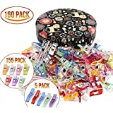 Sewing clips,Quilting Supplies Pack of 160 Multipurpose Quilting Clips with Premium Storage Tin Box Assorted Colors