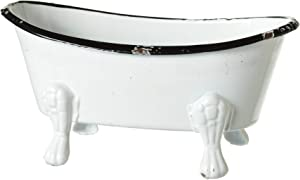 Black and White Bathtub Metal 5.5 x 2.75 Decorative Counterop Figurine